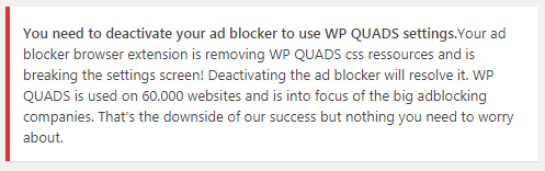 adblocker warning